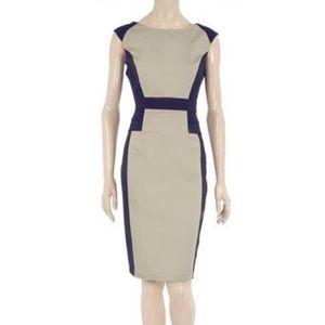 NWOT Dorothy Perkins Navy & Stone Peplum Dress